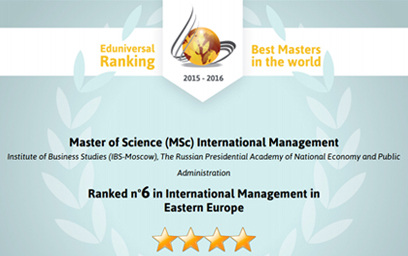 Eduniversal Master in International management