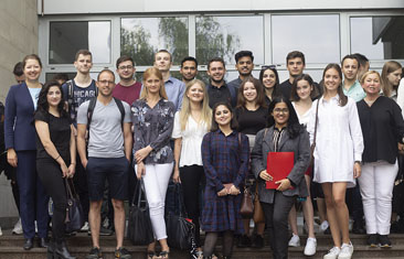September 2. Orientation week started for international students enrolled in undergraduate and graduate exchange programs at the Department of International Business and Business Administration (FMBDA)