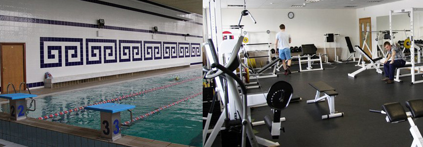 Gym, swimming pool