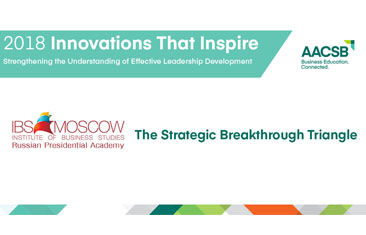 "AACSB International Recognizes the executive retraining program of IBS-RANEPA and Corporate University of ROSATOM corporation: ""Triangle of Strategic Breakthrough"" for Innovation in Leadership Development"
